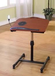 Cooling Laptop Desk by Laptop Stand Adjustable Table Rolling Cooling Fan Notebook Desk