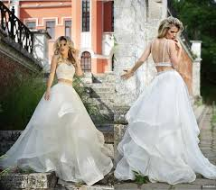 two wedding dresses new arrival two roberto motti backless wedding dress organza