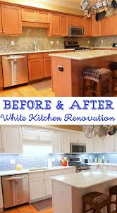 before after kitchen cabinets before and after white kitchen renovation plain chicken