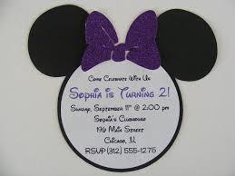 purple minnie mouse glitter invitations minnie purple