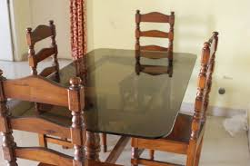 Dining Table Set Kolkata Glass Top Wooden Dining Table With 4 Chairs For Sale Apnacomplex