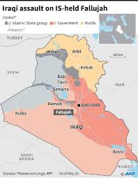 Iraq Province Map Iraq Forces Poised For Fallujah Assault