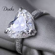 diamond rings aliexpress images Heart shape white gold plated jewelry ring antique cz diamond jpg