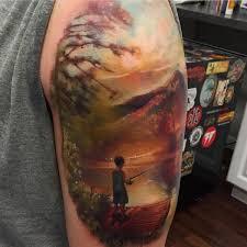 The Best Shoulder Tattoos - top 60 fish hook fishing tattoos ideas 2017