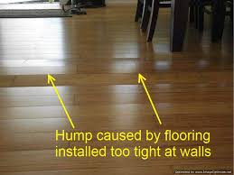 what happens to laminate flooring without an expansion gap