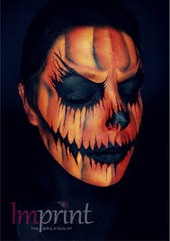 scary pumpkin face paint for halloween halloween pinterest