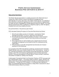 15 Cabinet Positions Public Service Commission Business Plan For 2014 2015 To 2016 2017