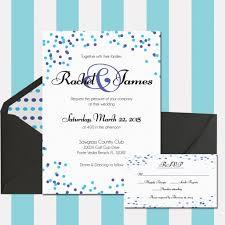 polka dot wedding invitations polka dot wedding invitation blue and purple confetti invitatio