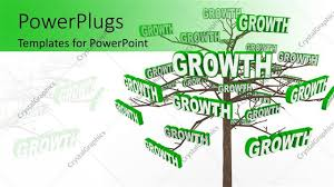 powerpoint template a tree with a number of growth signs 15258