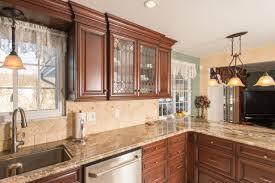 leaded glass kitchen cabinets elegant dark cherry kitchen custom cabinetry by ken leech
