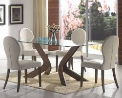 san vicente walnut wood and glass dining table set steal a sofa