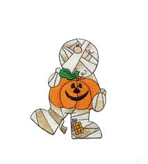 and pumpkin halloween embroidery design