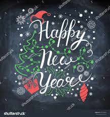 Board Decoration On New Year by Happy New Year Poster Vector Card Stock Vector 344118884