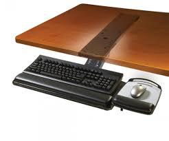 Secure Laptop To Desk by 3m Akt180le Adjustable Under Desk Mount Ergonomic Keyboard Tray