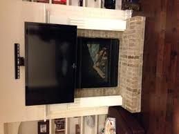 Mounting Tv Over Brick Fireplace by Fireplace Recessed Hiding Cables For Wall Mounted Tv Above