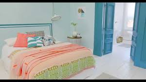 bedroom ideas a coral u0026 teal colour scheme with dulux youtube