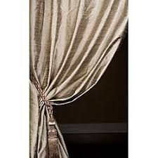 50 X 96 Curtains Signature Cashmere Textured Silk Curtain Panel 50 In X 96 In