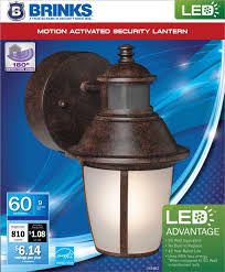 brinks led outdoor wall lantern motion security light bronze