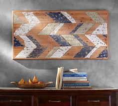 distressed wood wall hanging chevron wood wall pottery barn