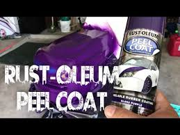 rust oleum automotive peel coat spray review youtube