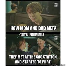 Memes Center - jimin telling army the story of how eomma and appa met xd allkpop
