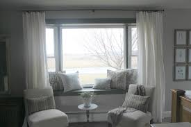 using bay window space window treatments for bay using bay window