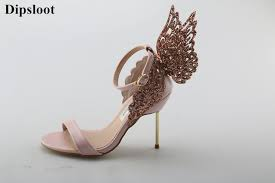 wedding shoes embellished dipsloot sweety back butterflies embellished stiletto high