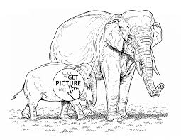 elephants animal coloring page for kids animal coloring pages