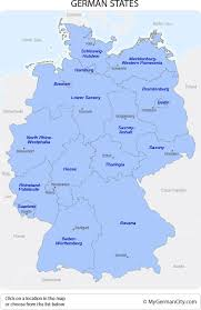 map germany and german states prove of changes in germany