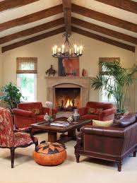 Spanishstyle Living Room Houzz - Spanish living room design