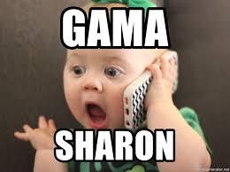 Baby On The Phone Meme - gama sharon baby girl on cell phone meme generator