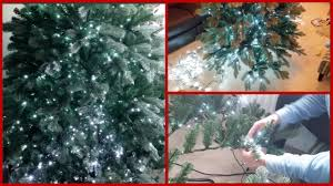 how to hang lights on a christmas tree putting lights on my christmas tree deck the halls pt2 youtube