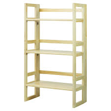 3 tier stackable folding bookcase hayneedle