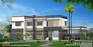 Home Design 900 Sq Feet 2450 Sq Ft Flat Roof Style Villa Kerala Home Design And Floor Plans