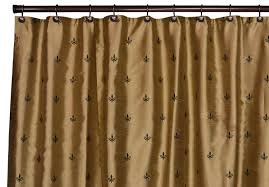 Fleur De Lis Curtains Black And Gold Fleur De Lis Curtain For Shower Useful Reviews