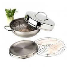 demeyere cuisine demeyere resto smoker wood chips 28 cm stainless steel set80828s