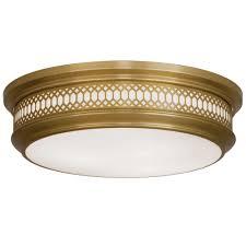lighting design ideas vintage antique brass flush mount ceiling