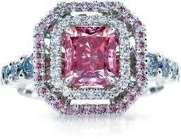 black wedding rings with pink diamonds pink engagement rings the best wedding picture ideas 13