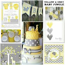 yellow and grey baby shower decorations yellow and grey baby shower with chevron accents baby shower