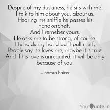 Unrequited Love Quotes by Namra Haider Quotes Yourquote