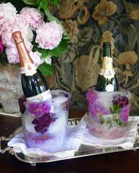 diy floral ice bucket cooler for wine champagne and spirits the