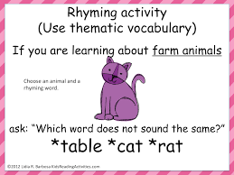 rhymes students can clap or stand when they hear a a rhyming