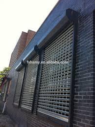 safety door design with grill roller shutter door ventilation