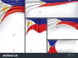 Filipino Flag Colors Abstract Philippine Flag Philippines Colors Vector Stock Vector