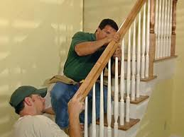 Installing Balusters And Handrails How To Install New Stair Treads And Railings How Tos Diy