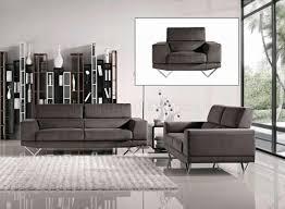 Grey Fabric Modern Sofa WOptional Loveseat  Chair - Fabric modern sofa