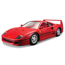 barbie ferrari white bburago race u0026 play ferrari f40 1 24 scale model 17 00