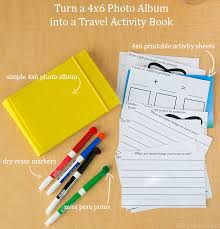 photo album book 4x6 ideas for traveling with kids diy activity book with printables