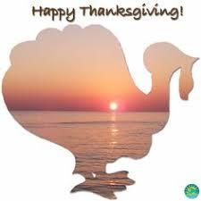 happy thanksgiving destin florida sunset post card
