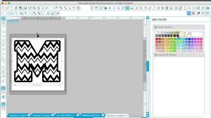 creating chevron letters patterns in silhouette studio youtube
